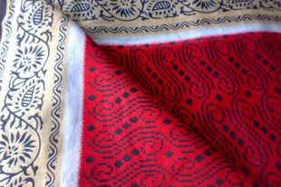 Red Sari Fabric By The Yard