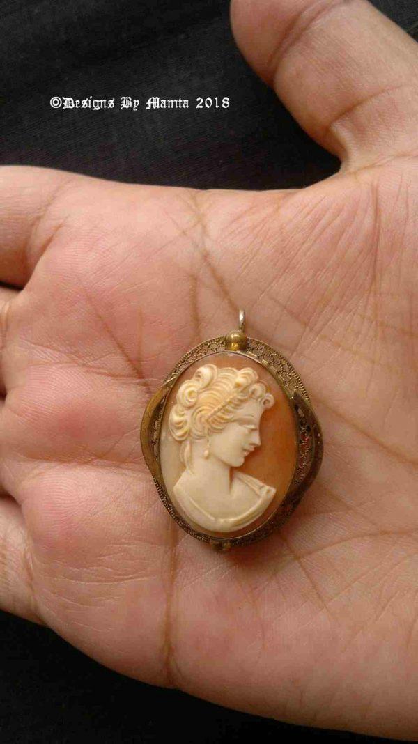 Roman Woman Bust Pin