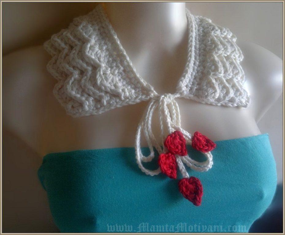 Romantic Ruffles Crochet Collar Pattern For Fashionable Women