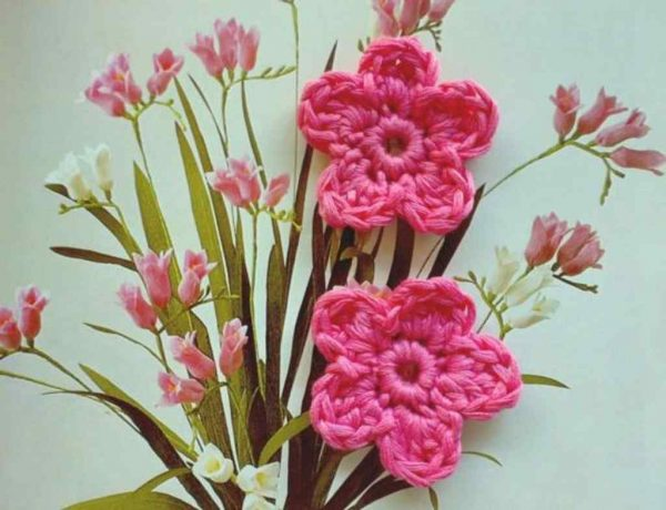 Rose Flower Crochet Applique