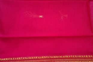 Rose Pink Poly Cotton Ilkal Saree Fabric