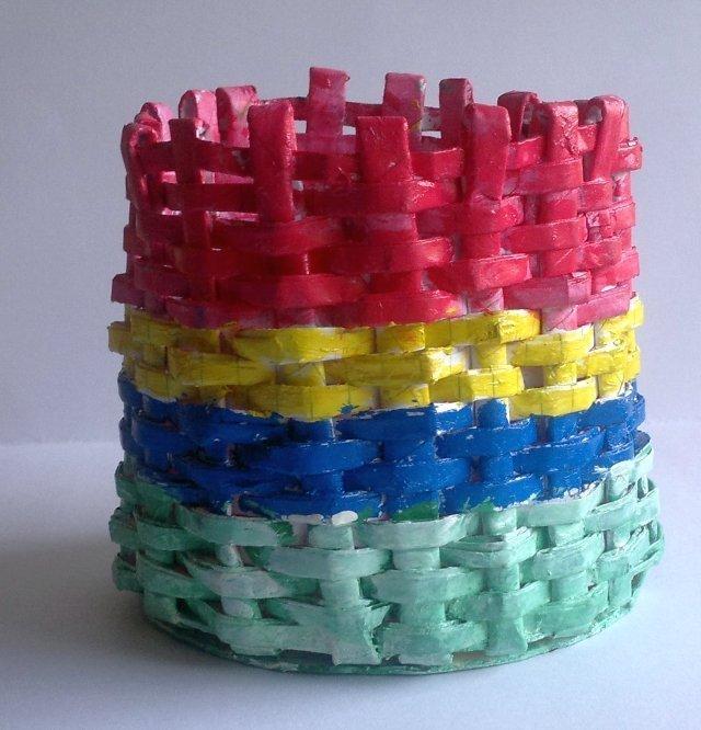 Round Woven Paper Basket