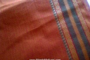 Rust Brown Indian Ilkal Sari Fabric