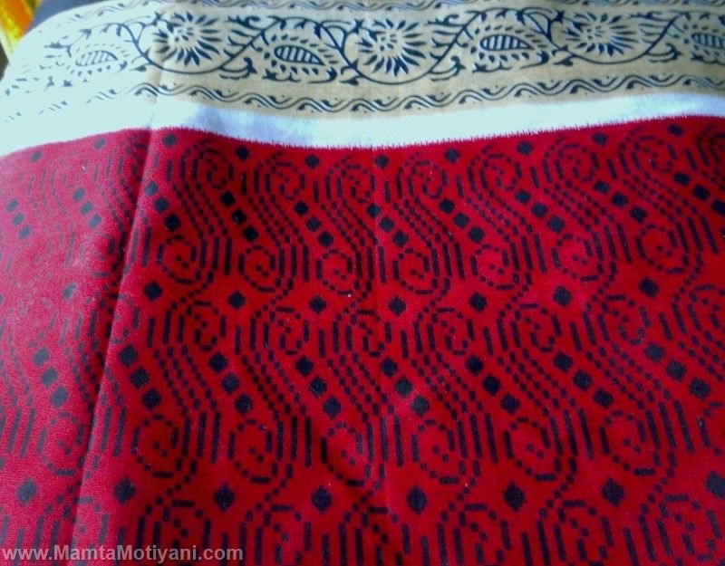 Red Sari Fabric By The Yard Unique Indian Handmade Fabrics