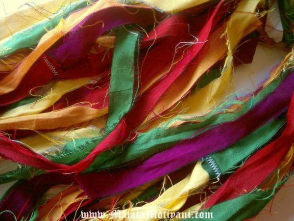 Sari Silk Yarn Ribbon