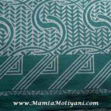 Sea Blue Cotton Saree Fabric By The Yard