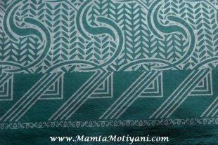 Sea Blue Cotton Saree Fabric By The Yard