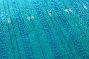 Sea Green Prussian Blue Ikat Fabric