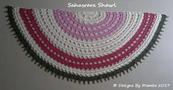 Semi Circular Crochet Shawl Pattern