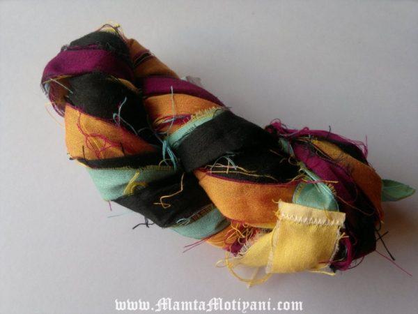 Silk Sari Ribbon Yarn