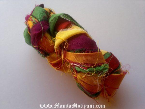 Silk Sari Ribbon Yarns