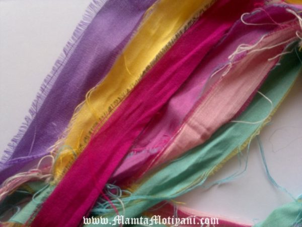 Silk Sari Yarn Ribbons