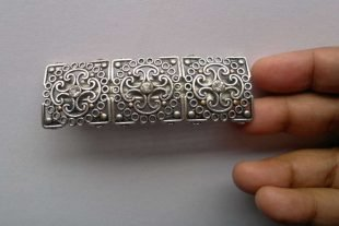 Silver Tone French Barrette