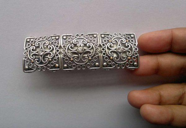 Silver Tone French Barrette