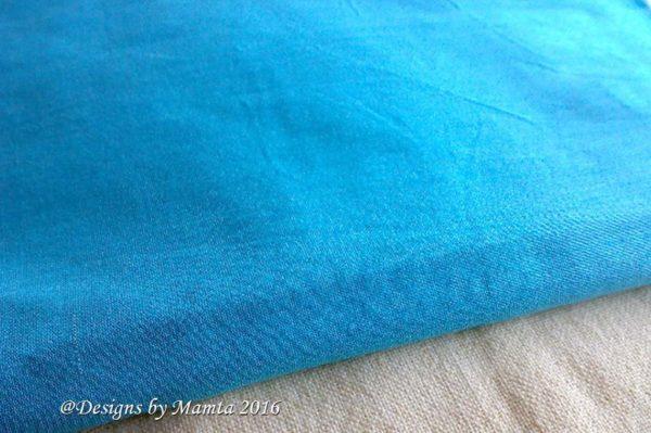 Sky Blue Indian Art Silk Fabric