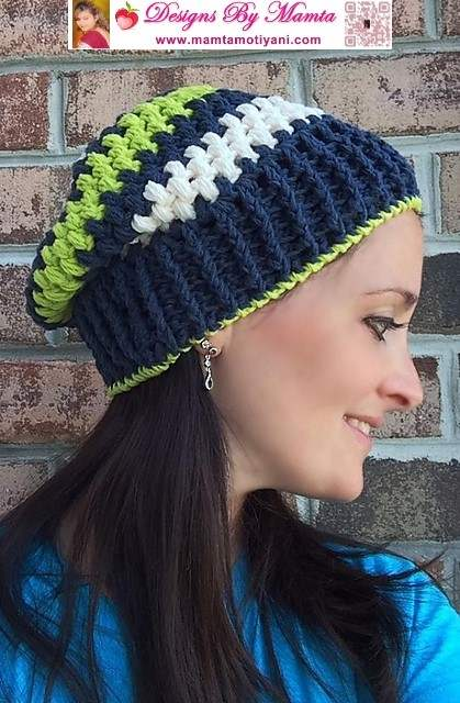 Slouchy beanie crochet pattern a designer bobbles hat dt1010fo