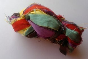 Summertime Brights Silk Sari Ribbon Yarn