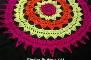 Sun Mandala Doily Crochet Pattern