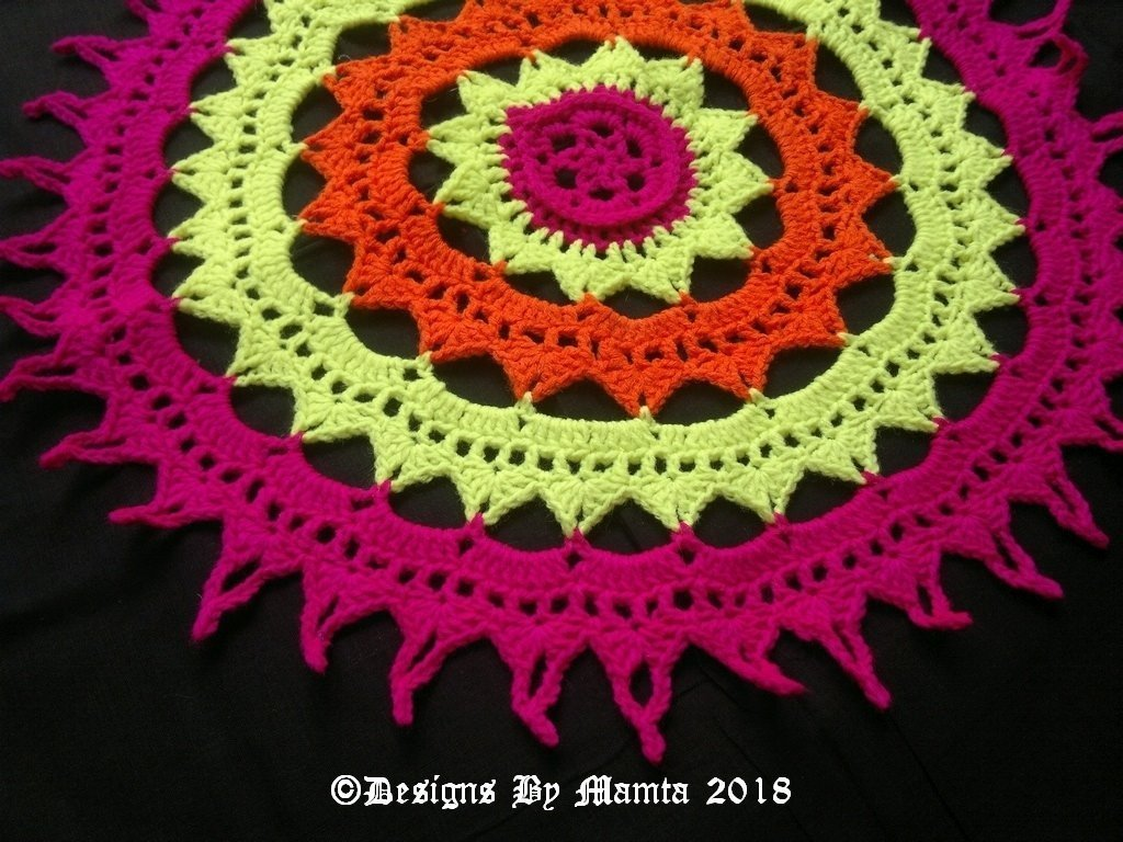 Sun Mandala Doily Crochet Pattern Unique Home Decor Crochet Patterns