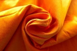 Sunshine Yellow Dupioni Silk Fabric