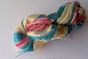 Surf N Sand Sari Silk Ribbon Yarn