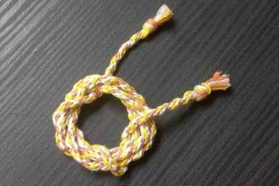 Sweet Candy Corn Braided Cord