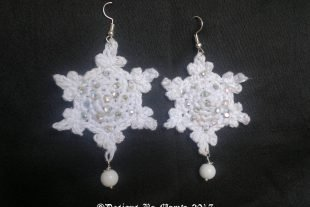 Thank You Snowflake Crochet Earrings Pattern
