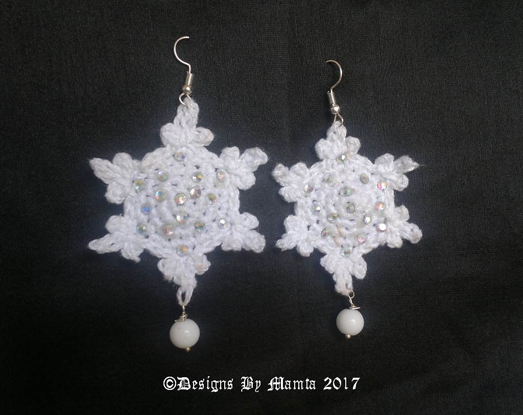 Thank You Snowflake Crochet Earrings Pattern Unique Jewelry Patterns