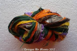 The Mallard Duck Sari Yarn Ribbon