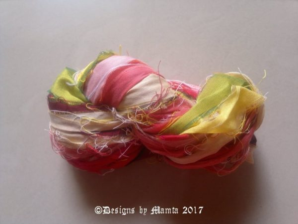 Tiger Lily Flower Sari Yarn Ribbon