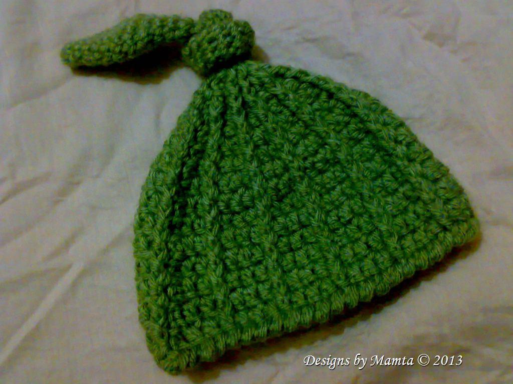 Top Knot Beanie Easy Crochet Pattern Cute Crochet Baby Hat Patterns