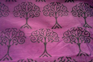 Tree Of Love Chanderi Silk Indian Fabric