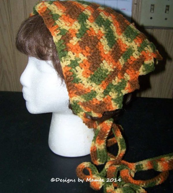Triangular Crochet Head Scarf Pattern