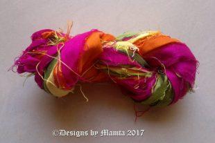 Tulips Flower Sari Silk Ribbon
