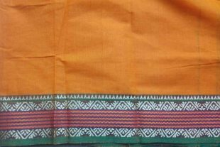 Turmeric Yellow Ilkal Sari Fabric