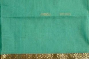 Turquoise Blue Indian Saree Fabric
