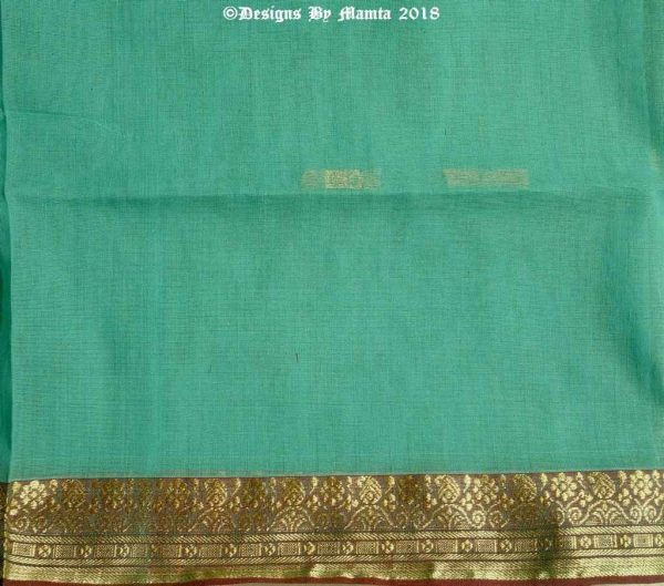 Turquoise Blue Indian Saree Fabric