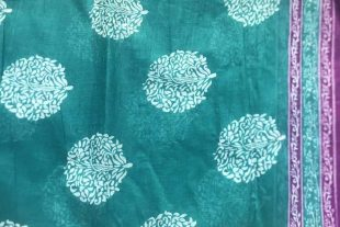 Turquoise Blue Saree Fabric