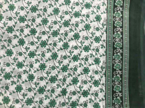 Turquoise Cotton Sari Fabric