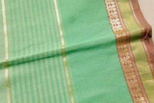 Turquoise Mint Sari Fabric