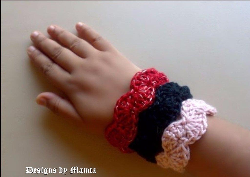 Scalloped Bangle Crochet Jewelry Pattern Diy Designer Bracelet