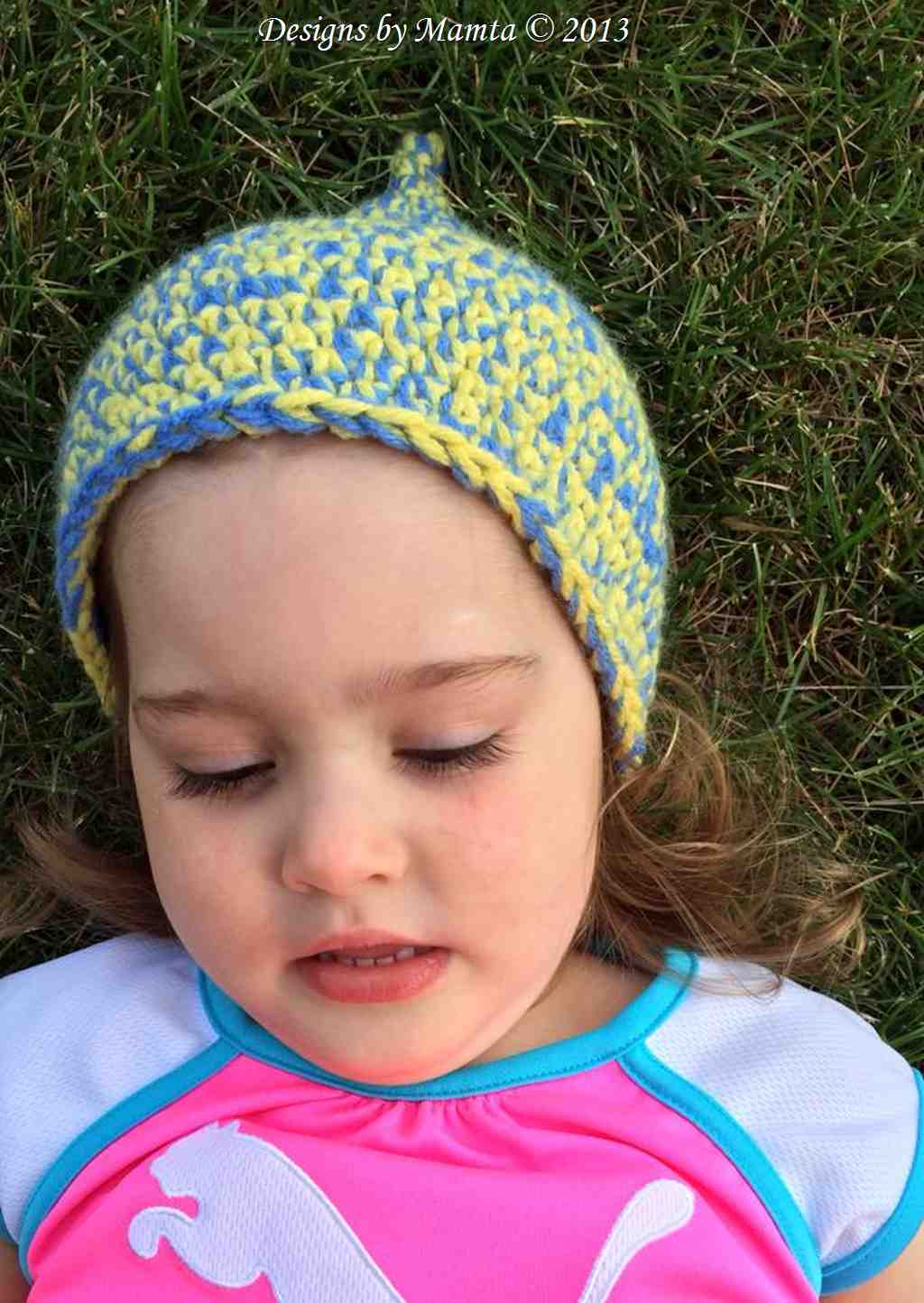 Crochet Pixie Beanie Pattern | Easy Fairy Gnome Hat Pattern For Children