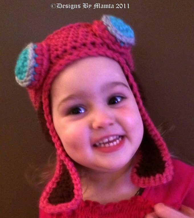 Aviator Hat Pattern Crochet Earflap Bomber With Goggles For Babies