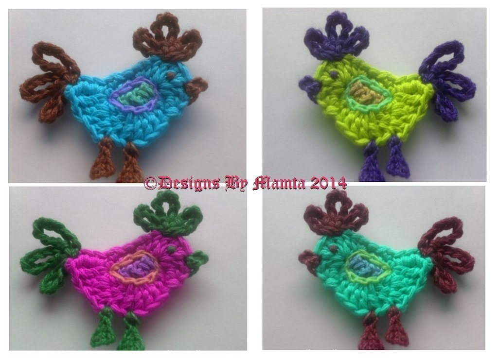 Crochet Rooster Applique Pattern For Christmas Easter