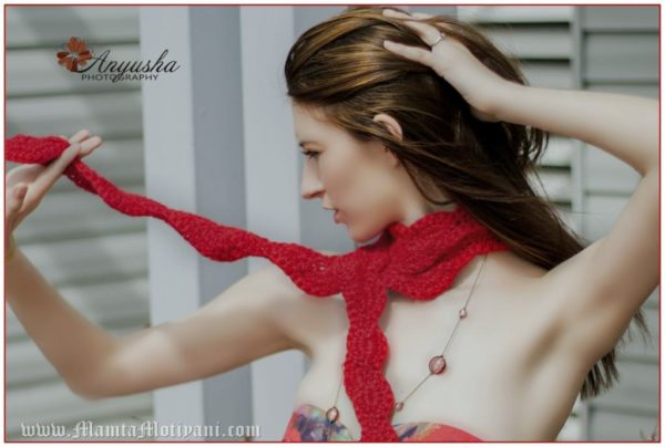 Valentine Hearts Crochet Scarf Pattern