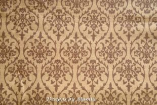 Vanilla Yellow Damask Print Fabric
