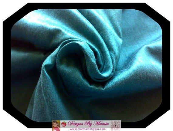 Verdigris Turquoise Silk Dupioni Fabric