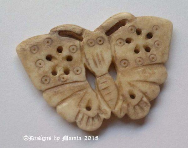 Vintage Butterfly Bone Bead