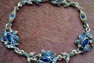 Vintage Floral Rhinestones Bracelet
