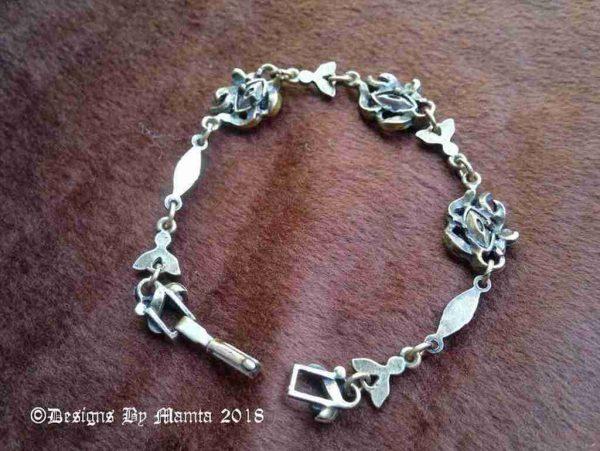 Vintage Marcasite Charm Bracelet